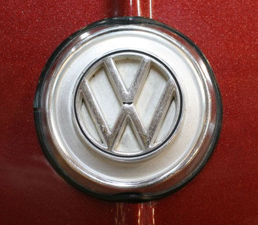 Karmann Ghia emblem, from a 1969 Volkswagen Karmann Ghia.