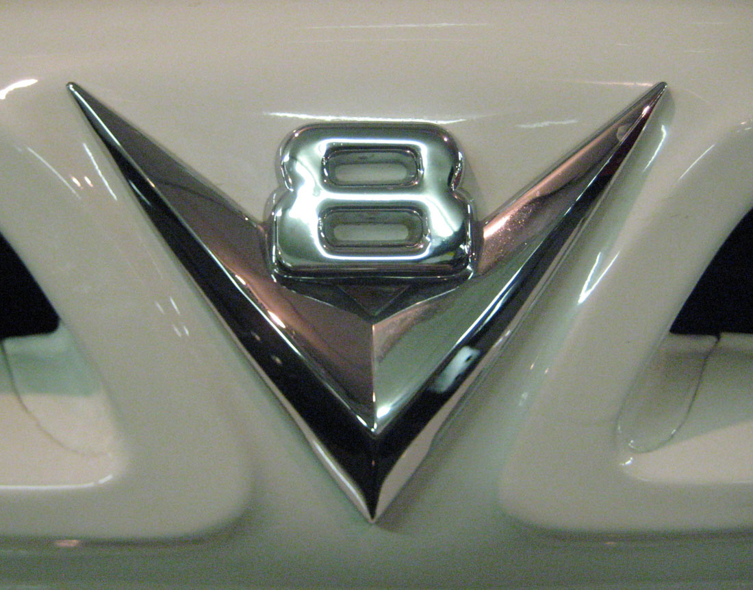 V8 emblem from a Ford