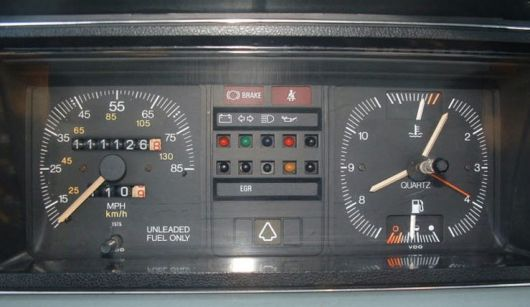 vw rabbit caddy pickup cluster 81