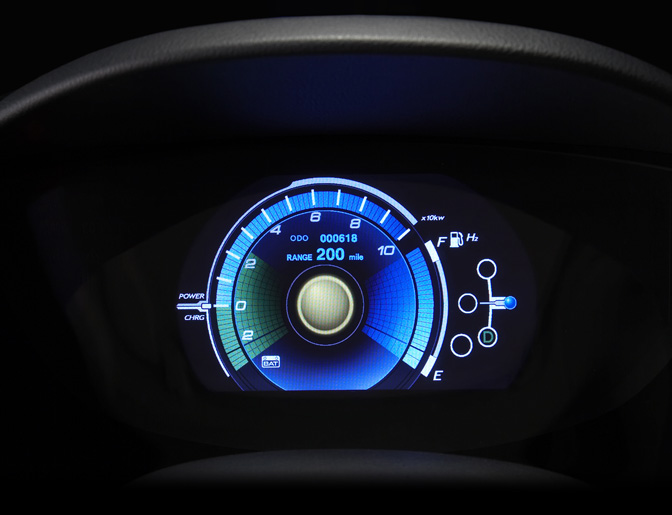 Digital Car Gauges Cluster : Custom digital car gauges interior design
