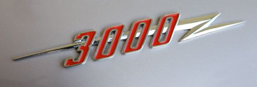 3000 austin healey 3000 mark iii bj8 conv emblem 67
