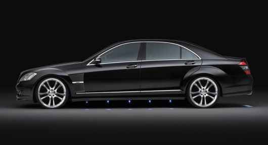 brabus 22 inch wheels and aluminum sport fenders for the mercedes s class and cl class