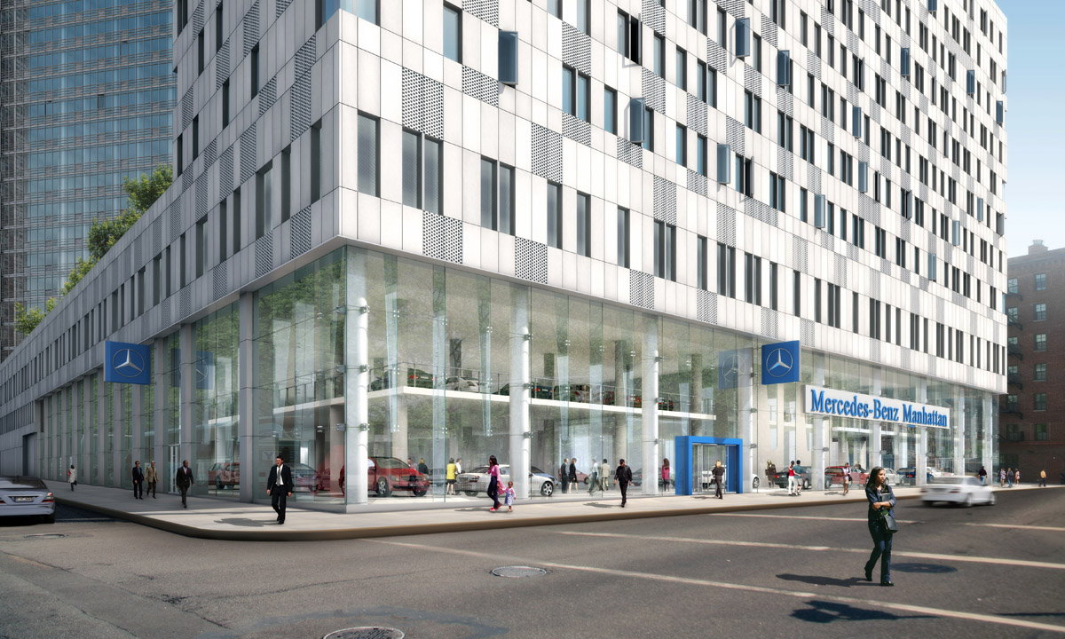 mercedes benz invests in new nyc flagship store cartype