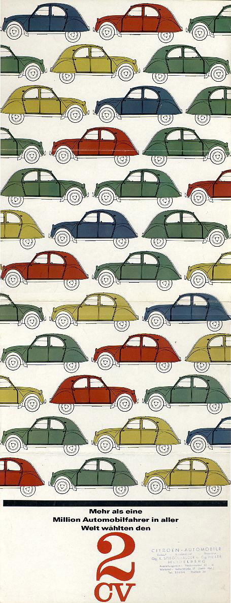 1963 Citroen 2CV brochure. (courtesy of Citrobe).