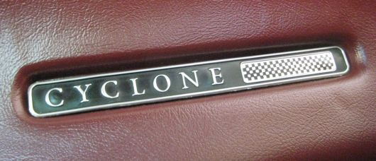 mercury cycone cj interior emblem 69