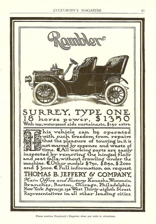 rambler surrey type one ad dec 1904