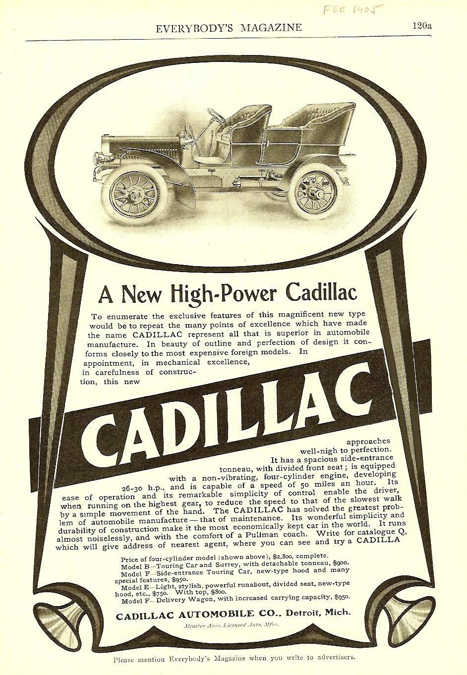 1907 Cadillac Model H Open