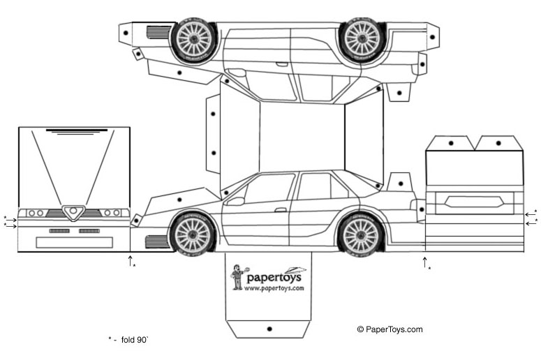 Paper Toys Cartype