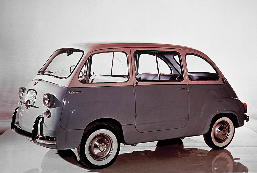 Fiat Multipla. (source: Fiat). The driver compartment was moved forward over