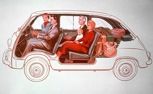 fiat 600 multipla draw 55 60