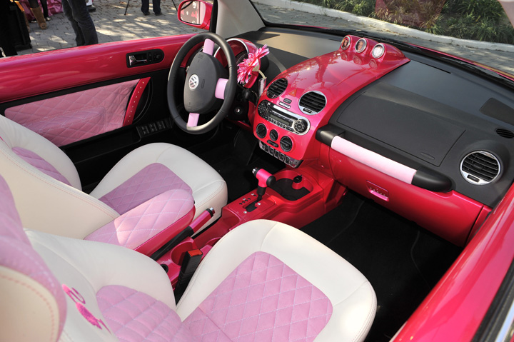 2009 Volkswagen Barbie Beetle interior.