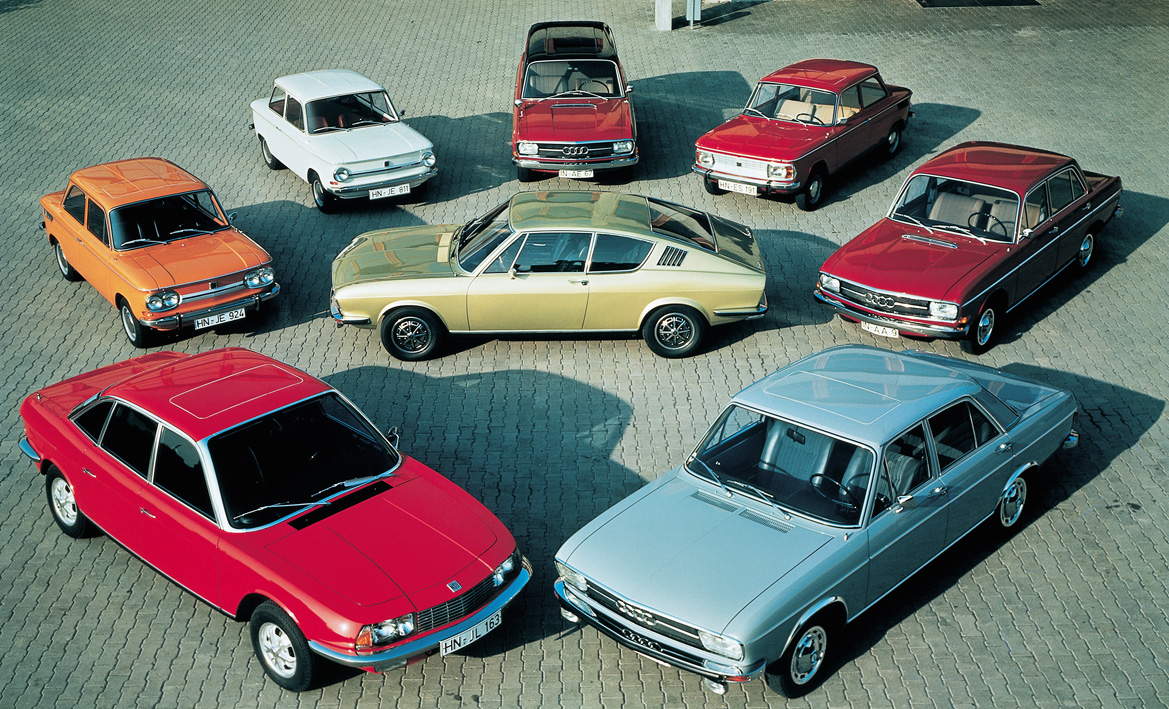 The Model Range Of Audi Nsu Auto Union Ag In 1971 Pictured