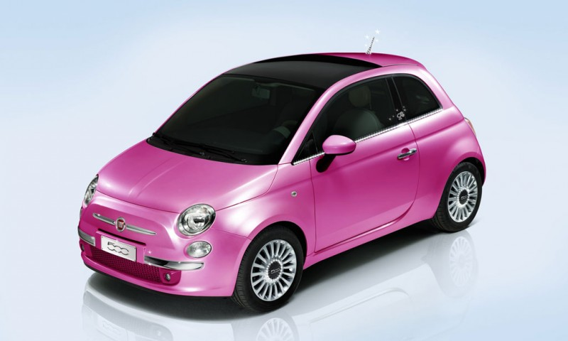 2009 Fiat 500 Barbie Wallpaper