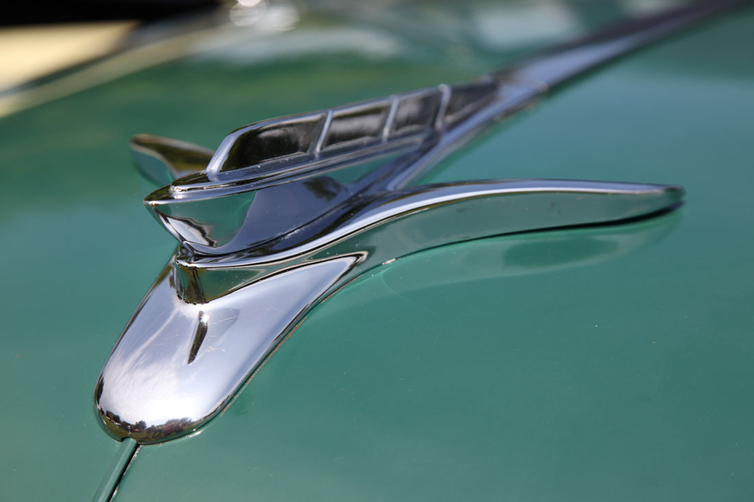 1951 Plymouth Cambridge 4-door Sedan hood ornament.