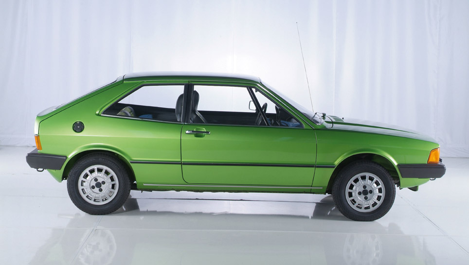 1978 Volkswagen Scirocco GT. 1.5-liter gasoline engine with 51 kW/70 bhp,