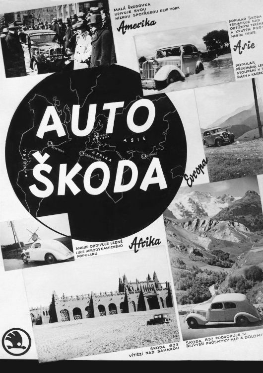 skoda cars in the world postcard 36
