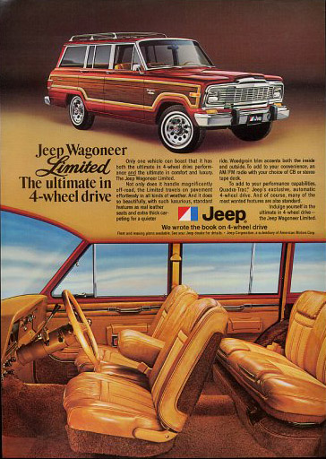 1979 AMC Jeep Wagoneer Limited ad.