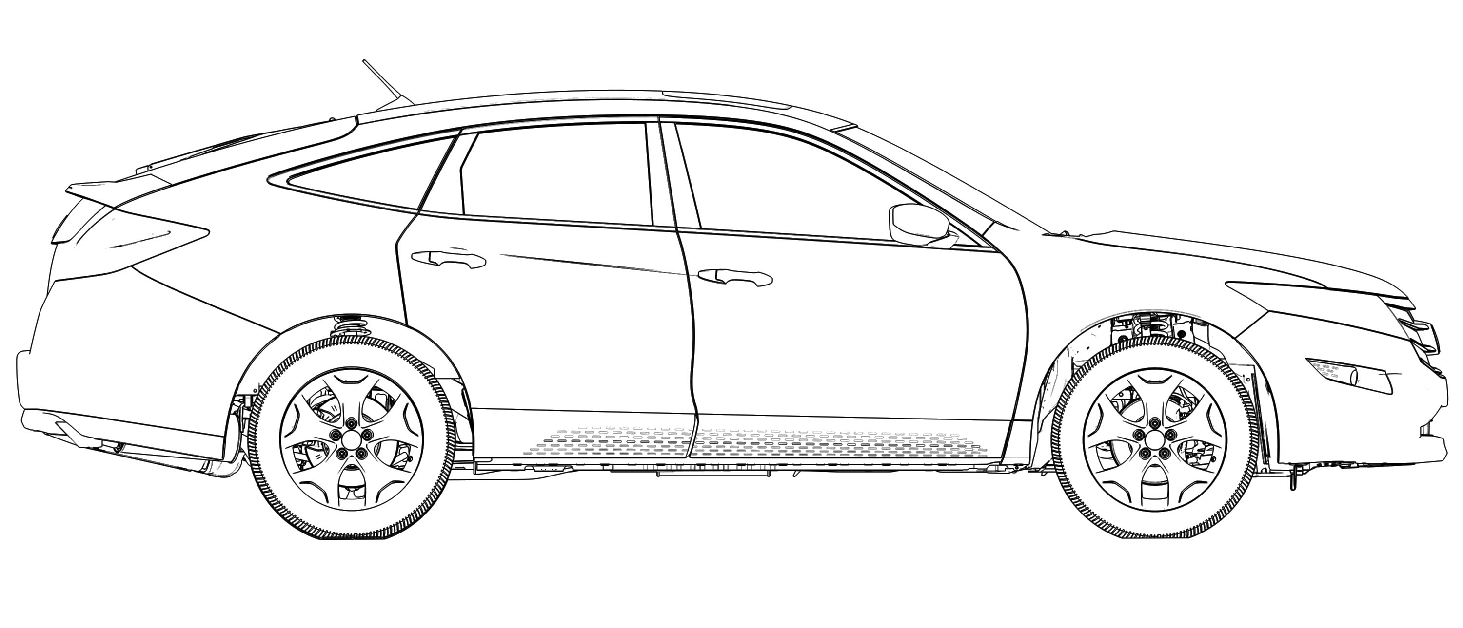 how to draw honda civic colouring pages page 3