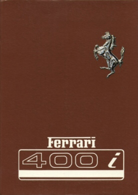ferrari 400i owners manual 82