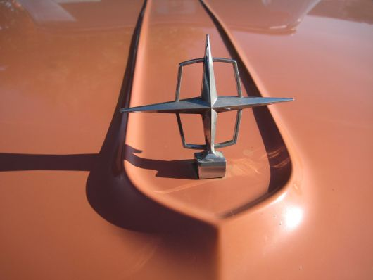 lincoln continental hood ornament 58
