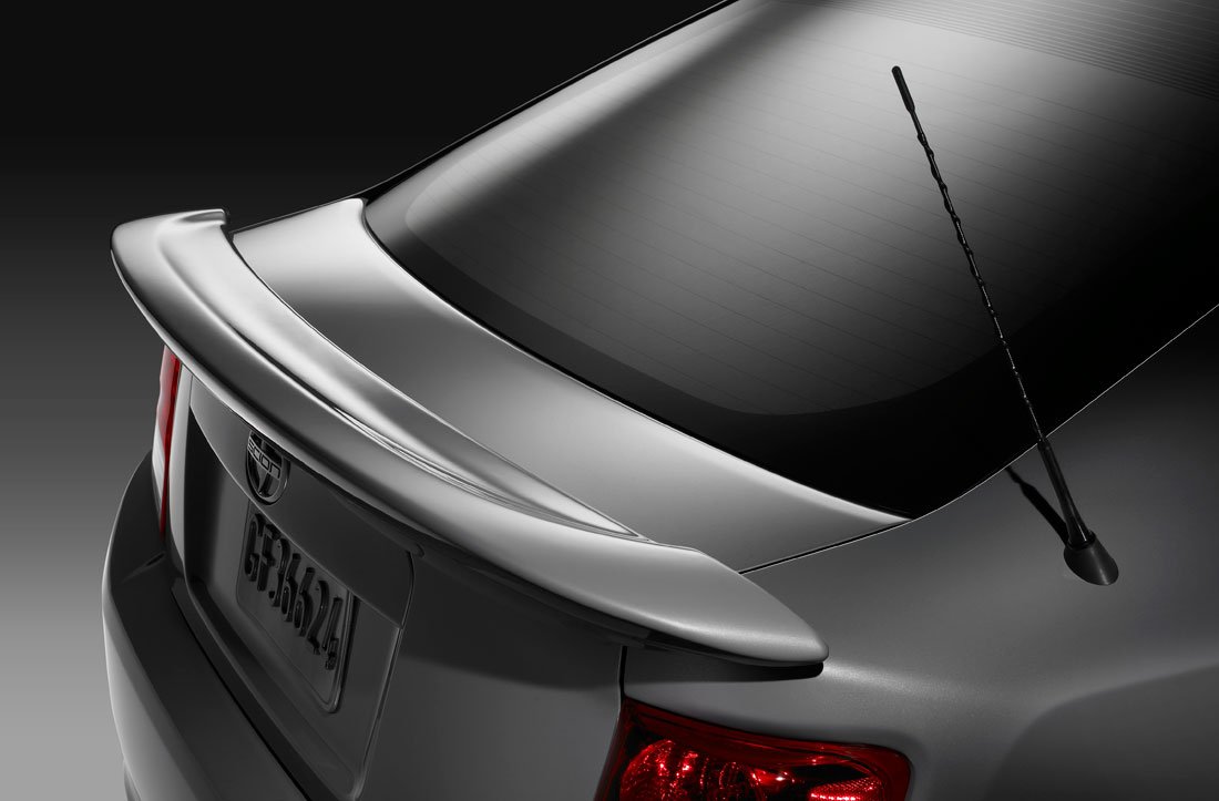 2011 Scion tC rear spoiler.