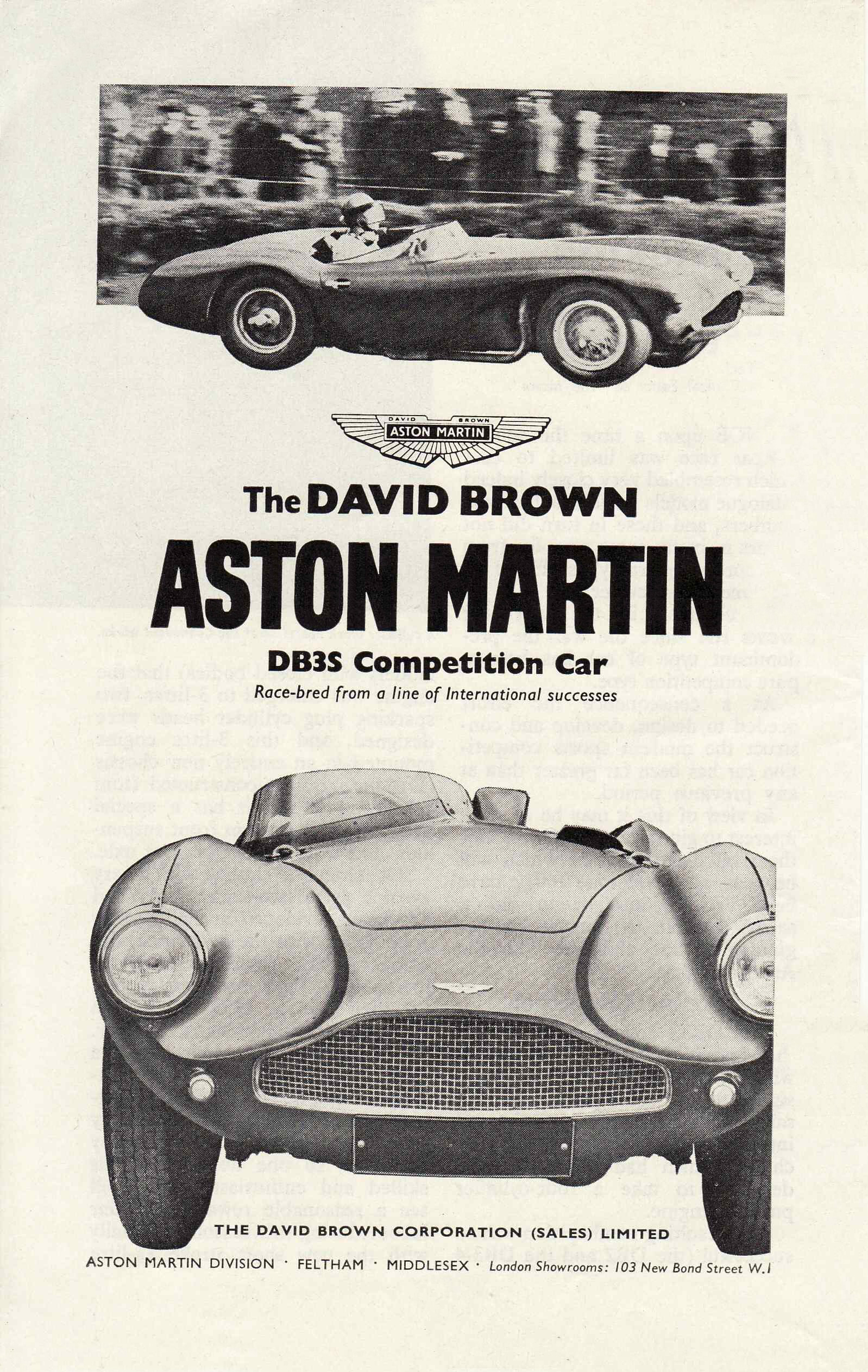 DB3S competion-car ad.