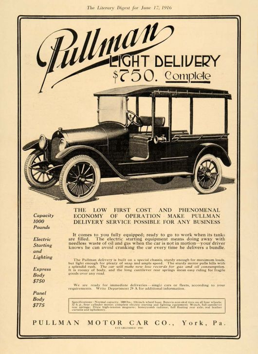 pullman light delivery truck ad 16