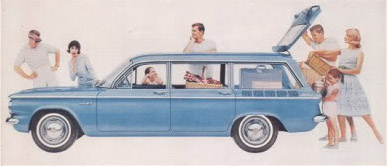 chevrolet corvair wagon 61