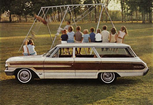 ford country squire wagon 64