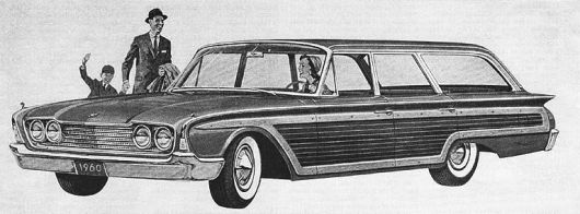 ford country squire wagon 60