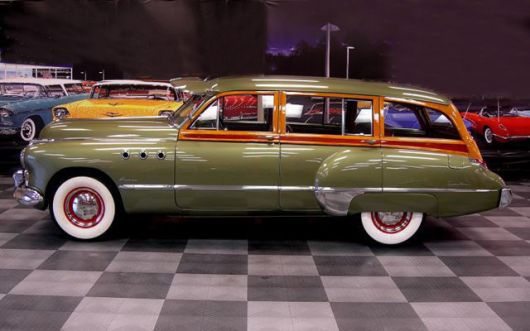 buick super estate woody wagon 49