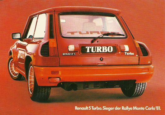 renault 5 turbo2 postcard 81