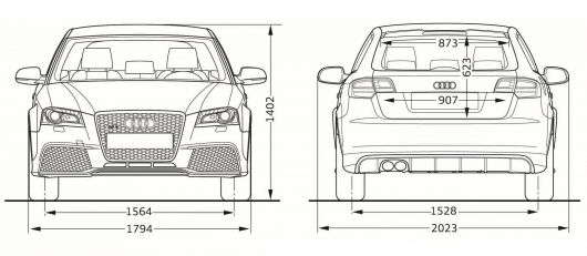 audi rs3 draw front back 11