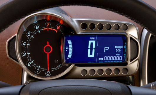 chevrolet sonic sedan in gauge cluster 12