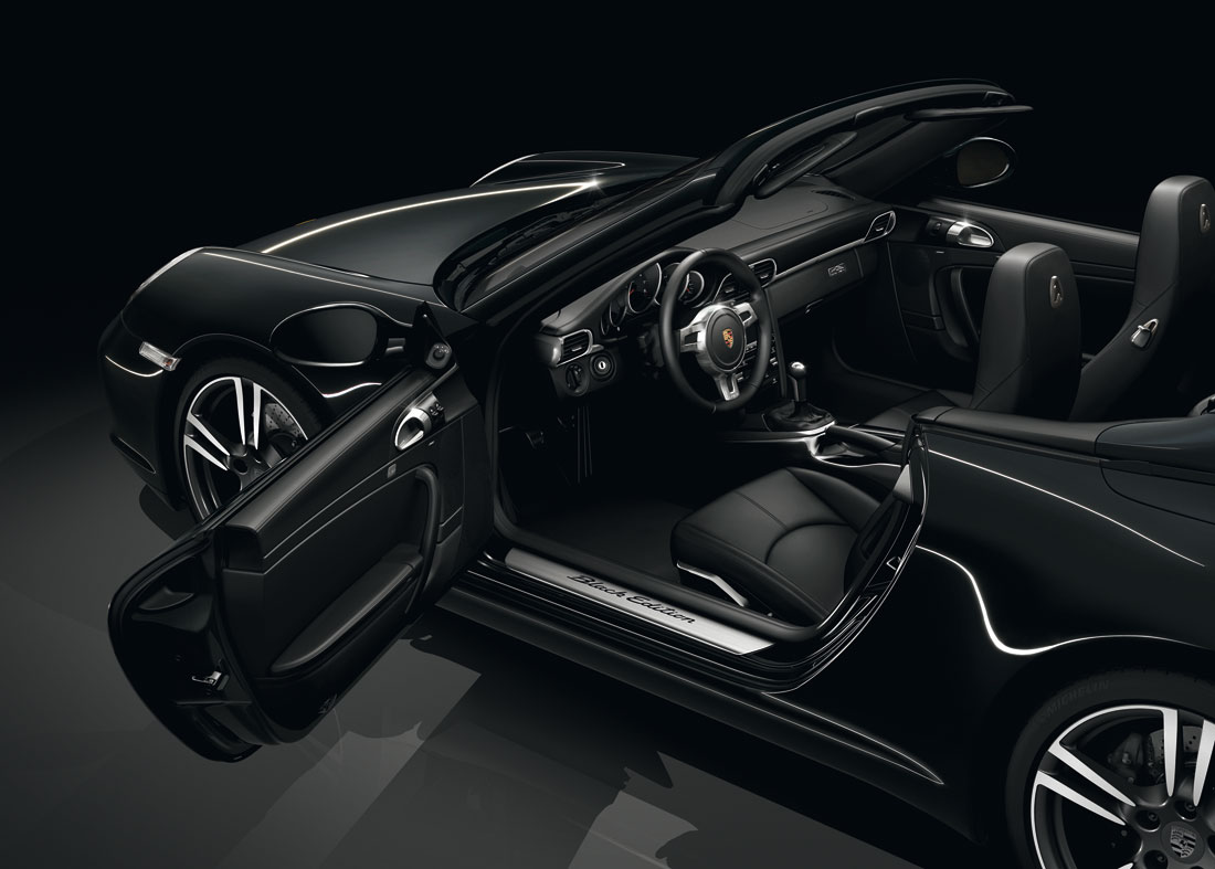 porsche  black edition convertible  cartype