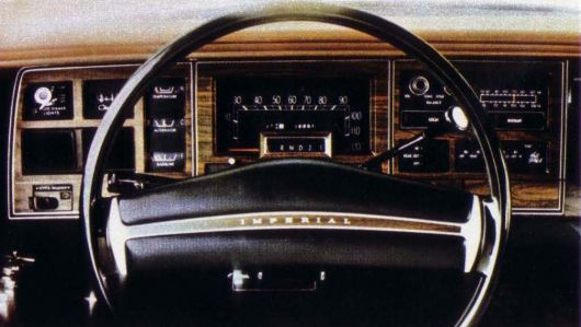 chrysler imperial gauge cluster 74