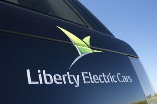 liberty electric cars decal