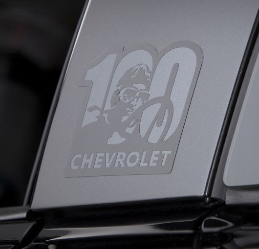 chevrolet corvette centennial edition side emblem 12
