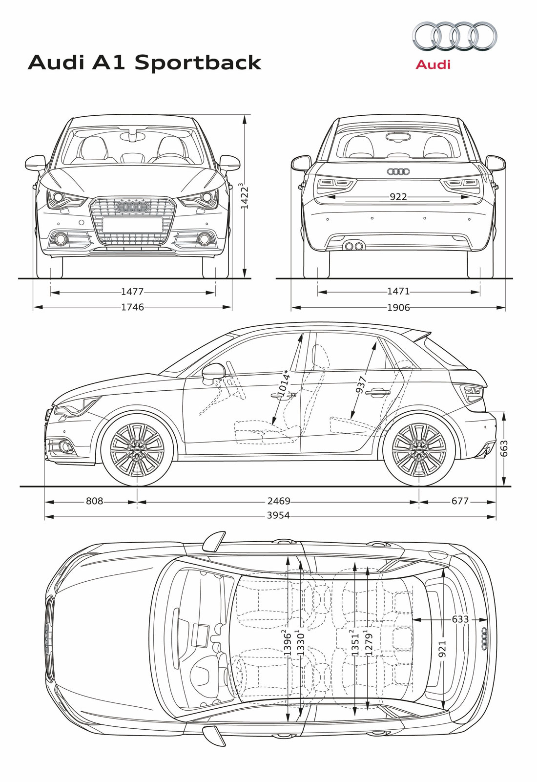 Audi A1 S Line 2012 Cartype Luggage Compartment Light Wiring Diagram For 1956 Studebaker Passenger Car Dimensions 12