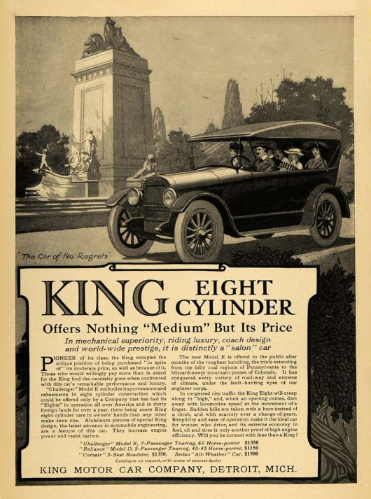 king 8 cylinder ad 16